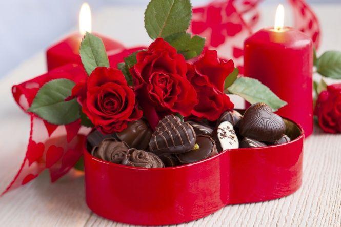 DUO PASSION - 6 roses avec chocolat
